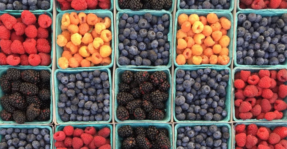 A selection of berries
