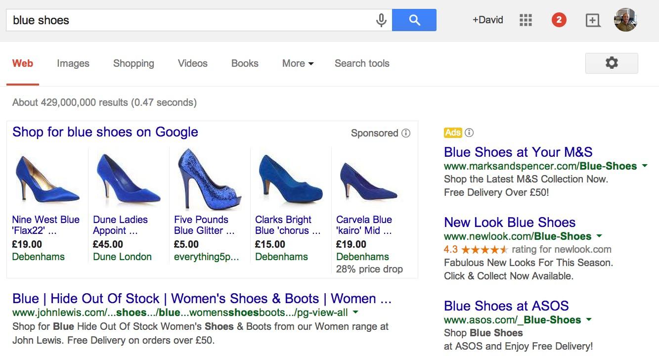 blue shoes ppc
