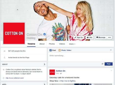 cotton on facebook