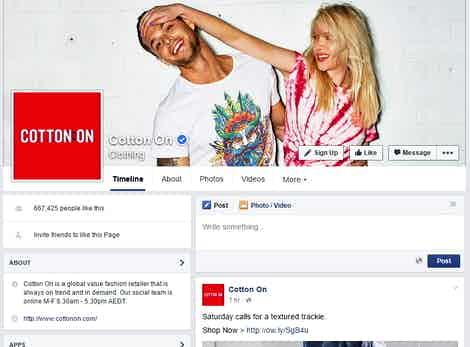 cotton on facebook