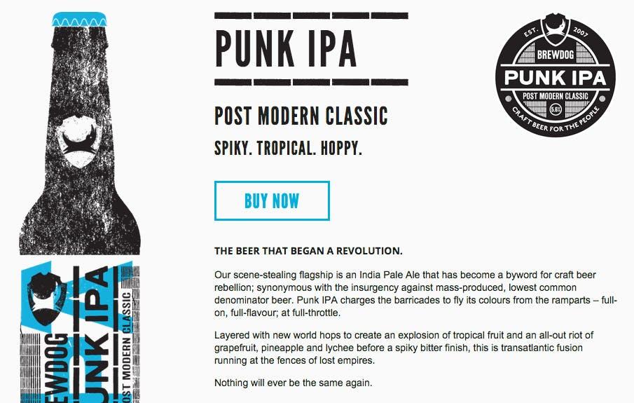 product page descriptions