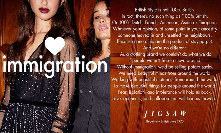 Jigsaw fashion marketing