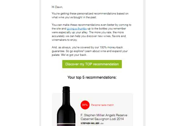 nakedwines campaign example email