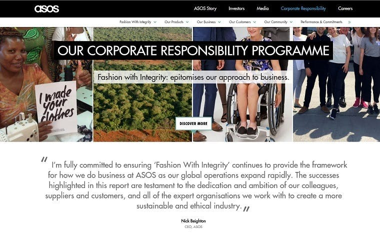 asos corporate responsibility