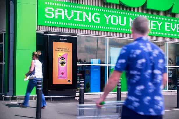 outdoor ad at asda
