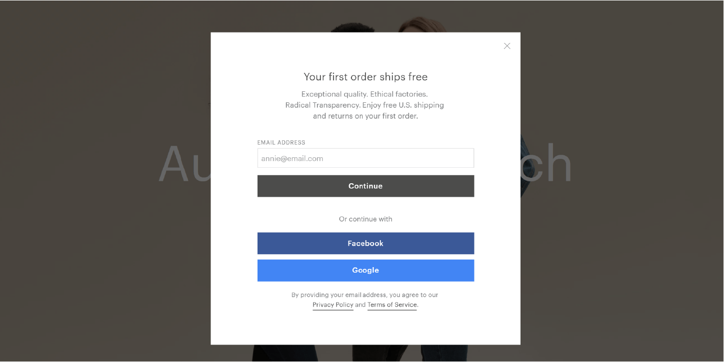 Eight effective examples of email sign up forms - Econsultancy