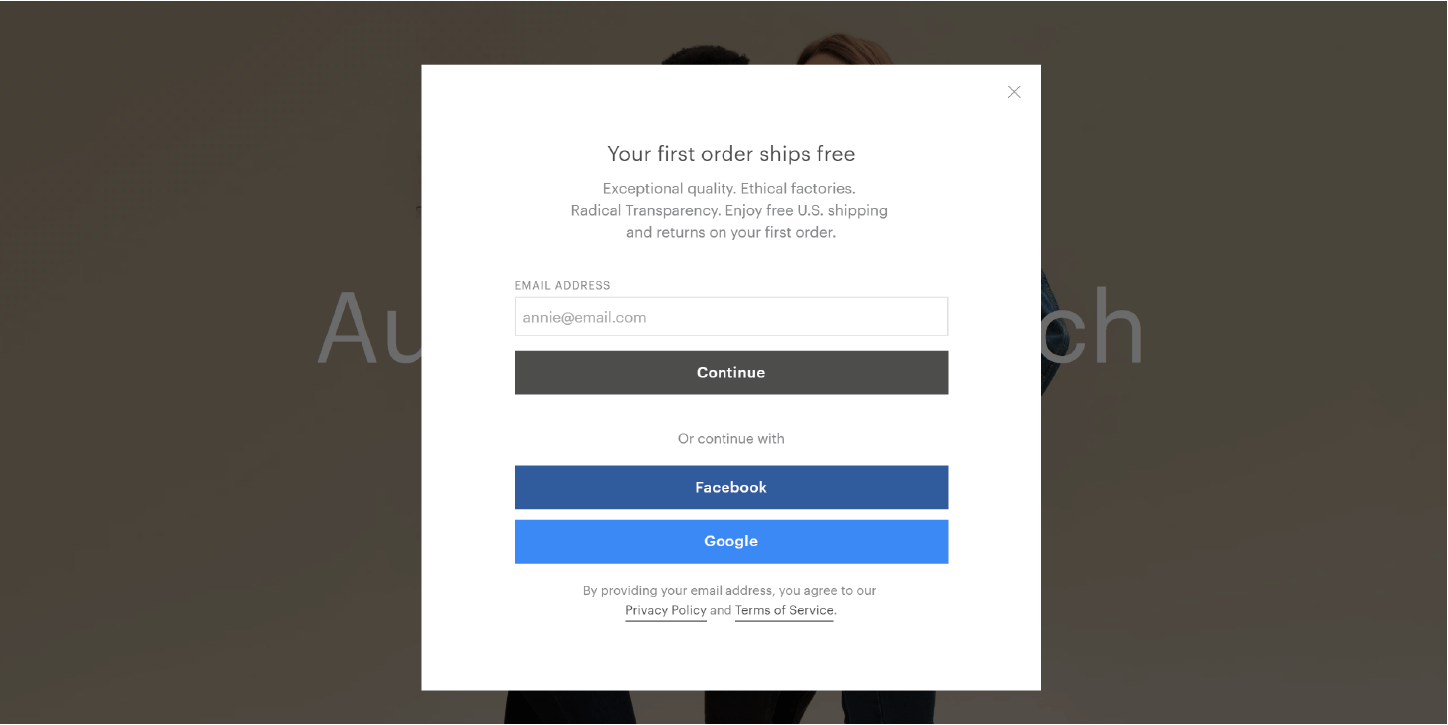 W Up Email | Eight Effective Examples Of Email Sign Up Forms Econsultancy