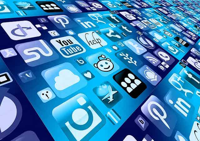 Social media icons stock image