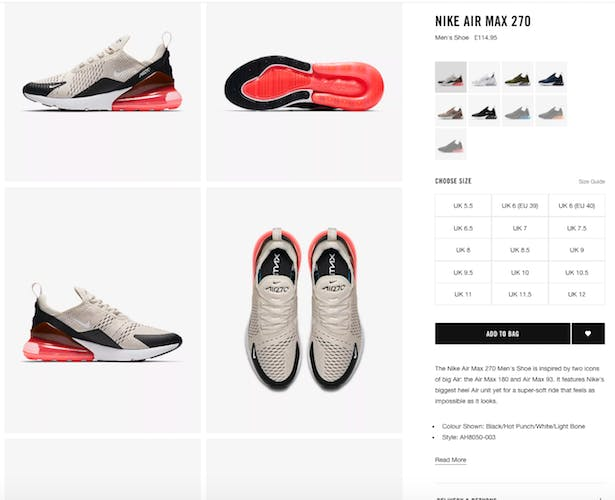 f4cabf5169ad Why Nike s refreshed product pages improve CX (  beat Adidas) – Econsultancy
