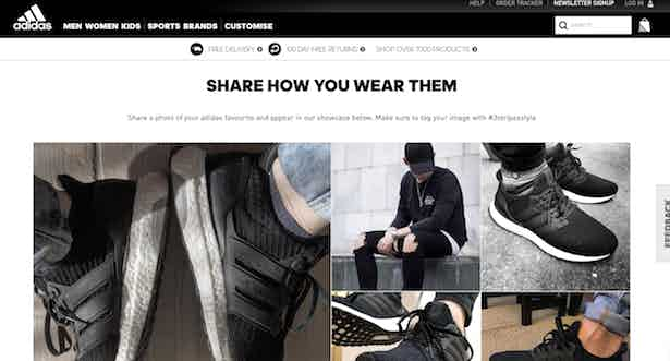 adidas share the look