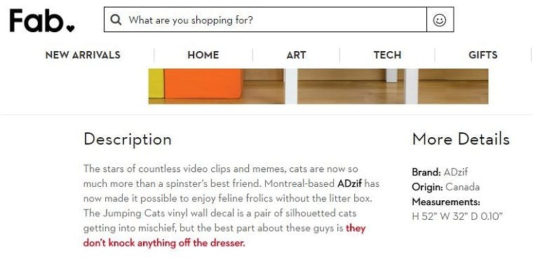2f2bb3d2f0a 10 brands with hilariously funny product page copy – Econsultancy