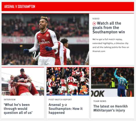 arsenal website