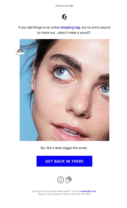 glossier abandonment email