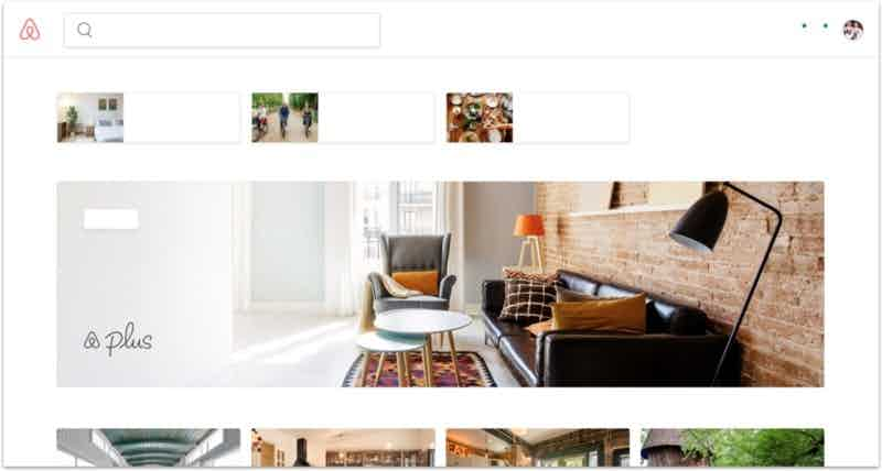 airbnb website without copy