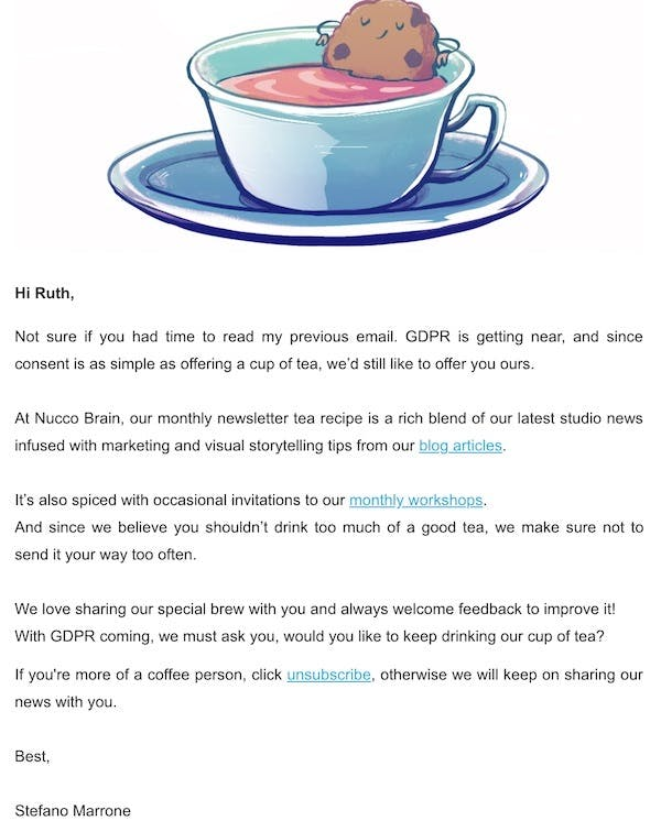 GDPR: 15 good & bad examples of repermissioning emails