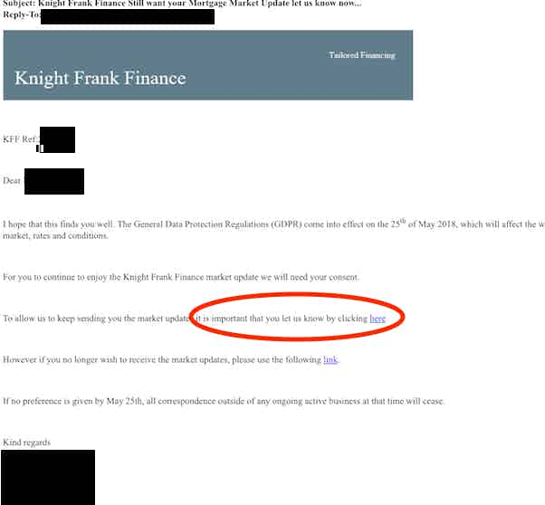 knight frank finance email gdpr
