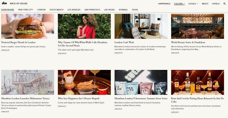 Seven examples of hotel content marketing campaigns