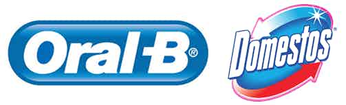 Oral B and Domestos logos