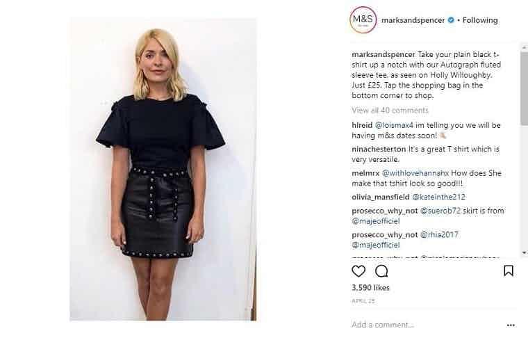 M&S celebrity endorsement