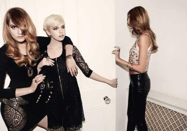 three asos models wearing black clothes