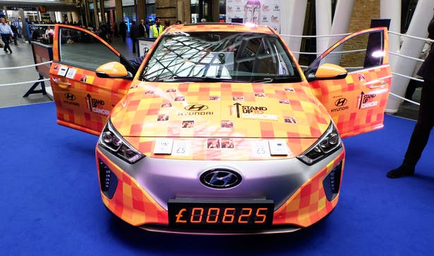 hyundai car fundraising stand up to cancer