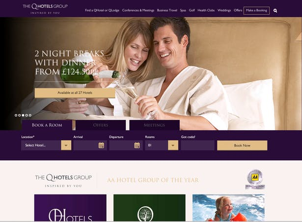 qhotels new website screencap