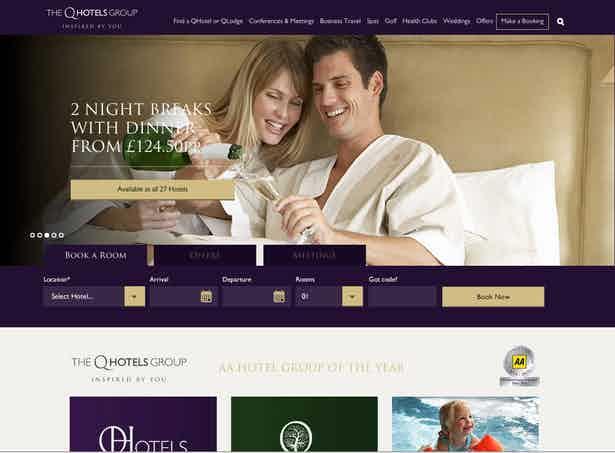 qhotels new website screencap