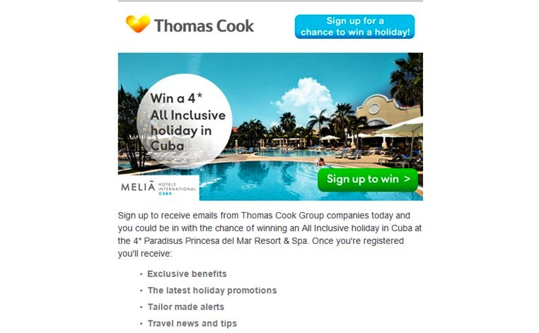 thomas-cook-melia-hotels-cuba-competition-email