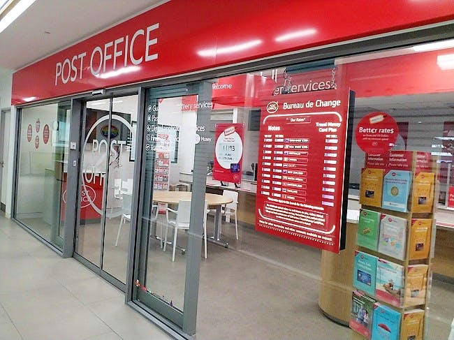 A Post Office branch, situated inside the Post Office headquarters.