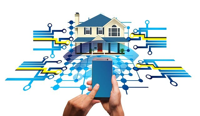 Smart home vector graphic