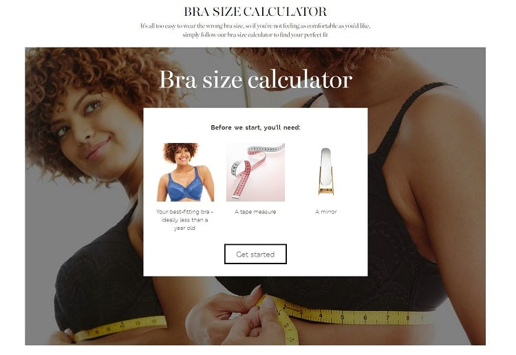 ca485273bf The best interactive size guides for reducing returns in ecommerce ...