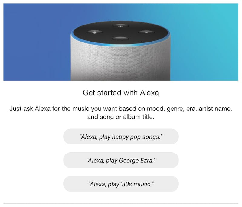 amazon music email recommendations including george ezra