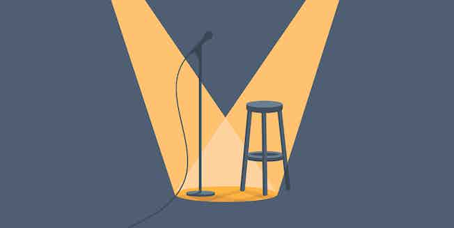 stool and microphone