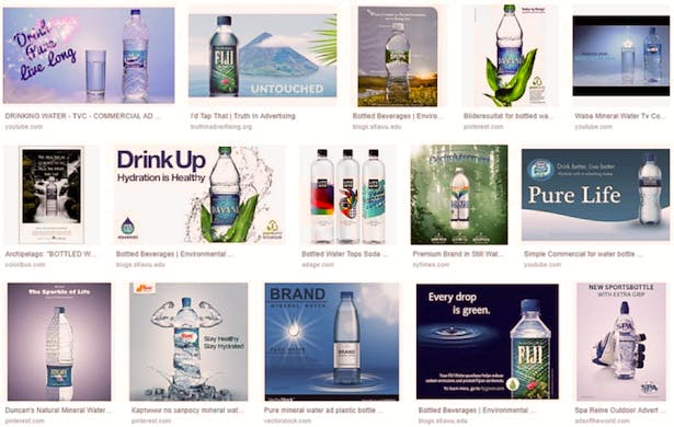 Google images search for 'water advertising'