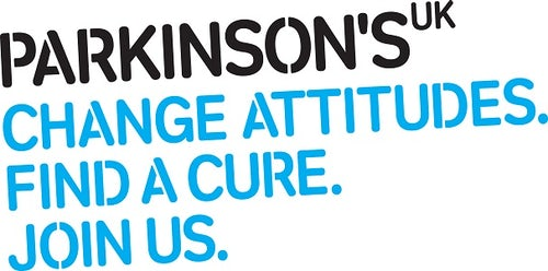 The slogan for Parkinson's UK: Change attitudes. Find a cure. Join us.