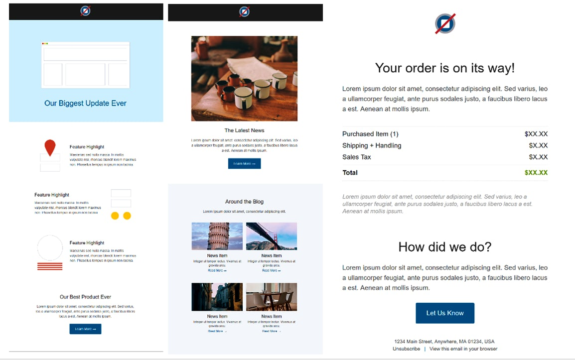 12 free email marketing templates for small businesses econsultancy