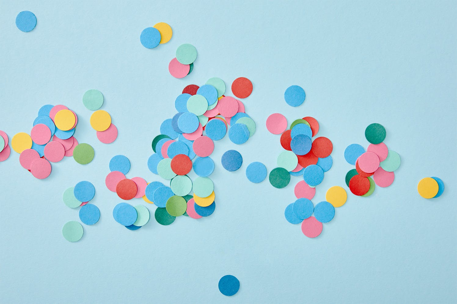 Confetti on a blue background