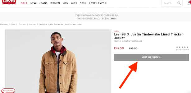 levis-out-of-stock