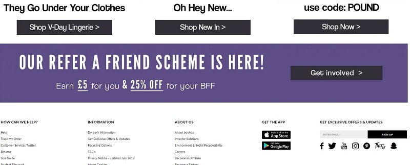 refer a friend boohoo