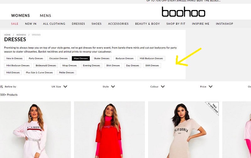470f392e445 Boohoo: 12 clever ecommerce features and strategies that drive sales ...