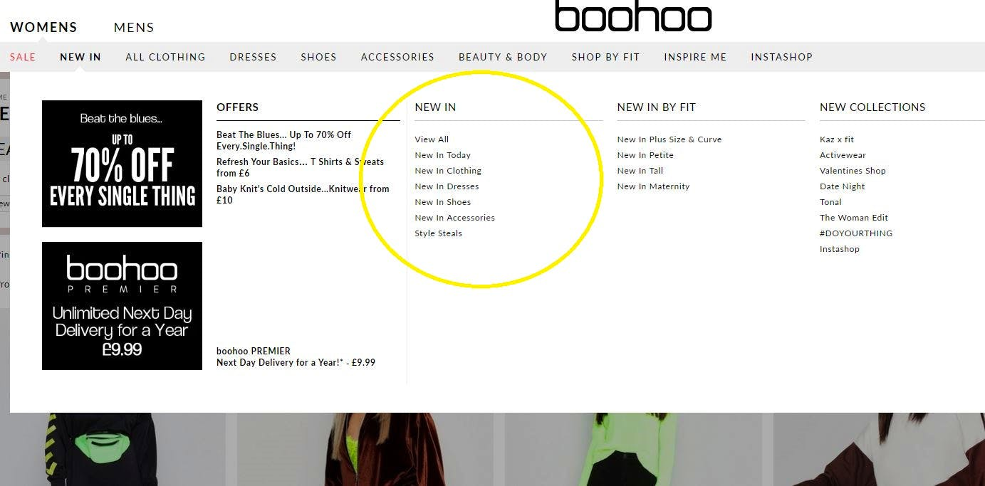 boohoo new in