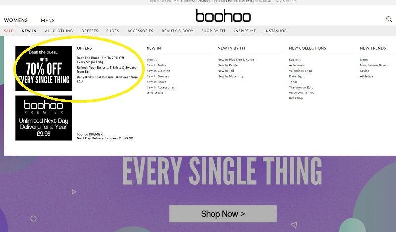 boohoo promotions