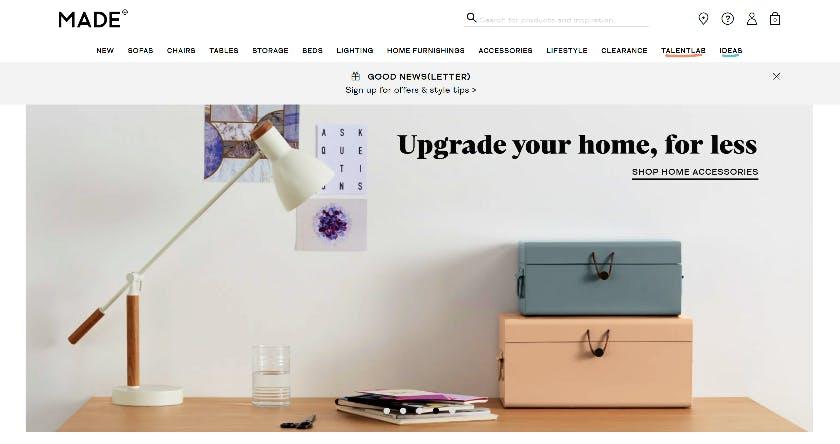 made.com screenshot
