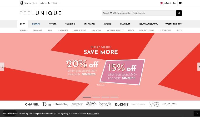 feelunique screenshot