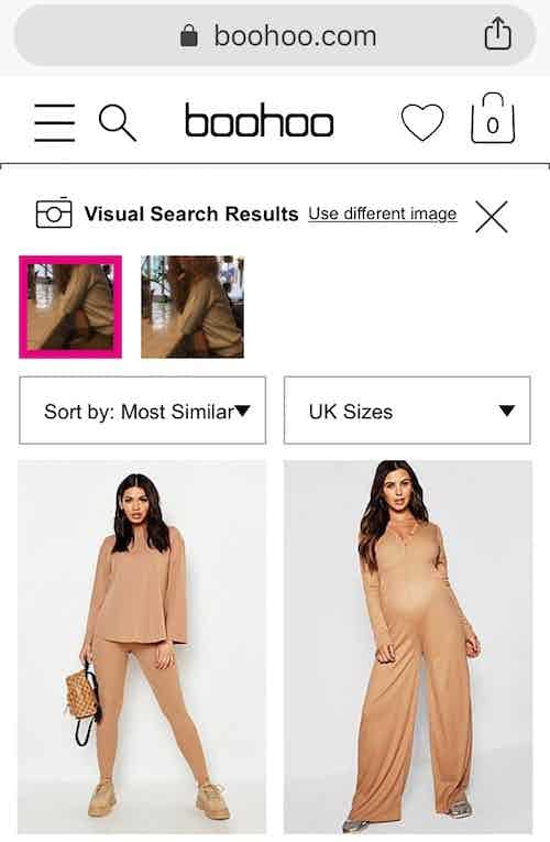 boohoo visual search