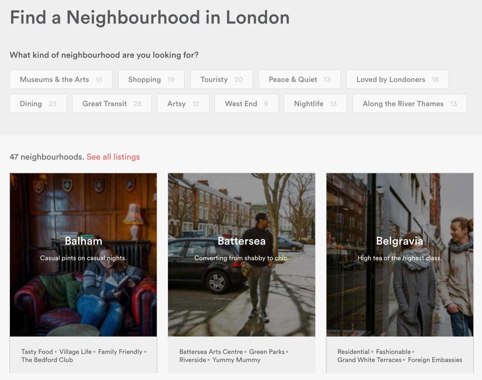 airbnb neighbourhood guides