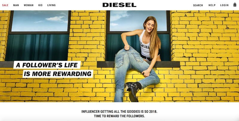Diesel's new loyalty scheme makes everybody an influencer