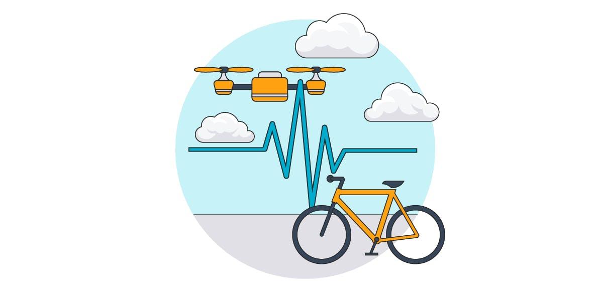 pharma bike drone