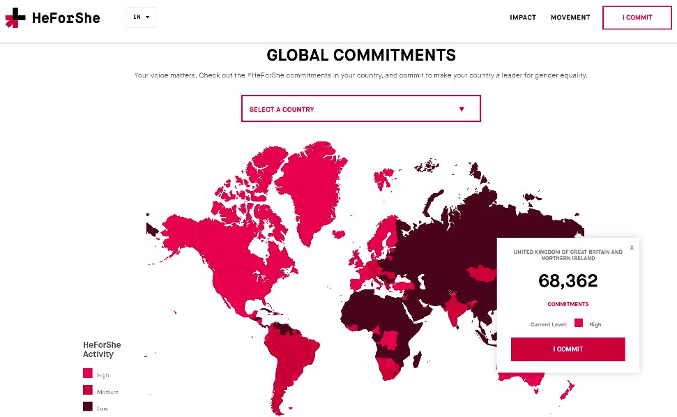 3 HeForShe Global Commitments