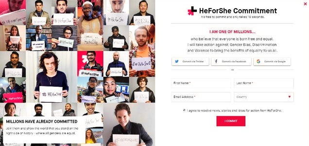 4 HeForShe sign up